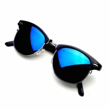 Retro Fashion Half Frame Flash Mirror Lens Club Vintage Master Sunglasses - $5.97+