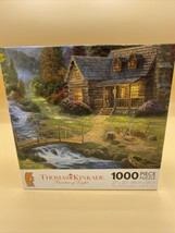NEW SEALED Thomas Kincade Art Mountain Paradise 1000 Piece Jigsaw Puzzle - $14.80