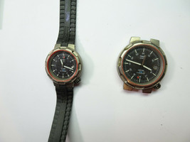 Timex TITANIUM QUARTZ HIS HER 24HR MILITARY 100M WATCHES 1 RUNS FOR REPA... - $125.73
