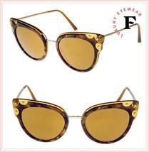 DOLCE & GABBANA LUCIA DG 4340 Brown Havana Gold Cat Eye Sunglasses DG4340S - $267.30