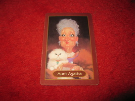 1993 - 13 Dead End Drive Board Game Piece: Aunt Agatha Portrait Card - $1.00