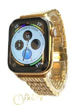 24K Gold Plated 44MM Apple Watch SERIES 4 Diamond Rhinestones Band - GPS + LTE - $1,329.05