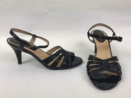 Cole Haan Black Strappy Slingback Buckle Heels Womens Size 7 B - $29.02