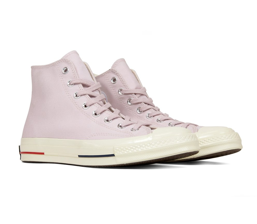 Primary image for Converse Chuck 70 Heritage Court Hi Barely Rose Red Navy 160492C Mens Size 10