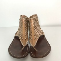 Cole Haan Sandals Size 5 B Side Zipper   Soles are very worn - $34.65