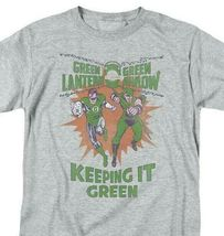 Green Lantern Green Arrow Retro DC Comics distressed graphic t-shirt GL355 image 3
