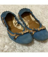 Tod's blue suede elastic driving ballet flat ribbon - $34.71