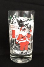 "Vintage Santa Claus Glass Tumbler 5"" North Pole Post Office Christmas  - $9.85"