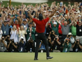 Tiger Woods 2019 Masters Champion 11x14 Color Photo - P1 - $12.34
