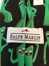 Gumby Ralph Marlin 1995 Prema Toy Co. Black Green Classic Mens Novelty Neck Tie image 3