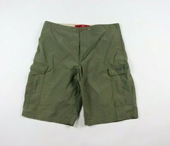 Vtg 90s Tommy Hilfiger Mens Large Spell Out Casual Outdoor Cargo Shorts ... - $33.61