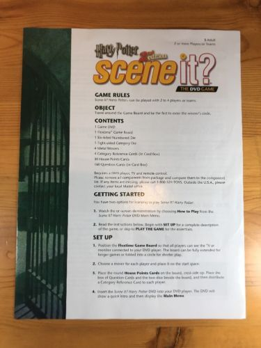 Harry Potter Scene It 2nd Edition And 50 Similar Items