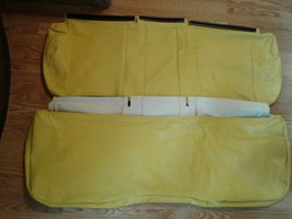 May be john deer?  Yellow side by side  bench seat covers 2 piece. image 2