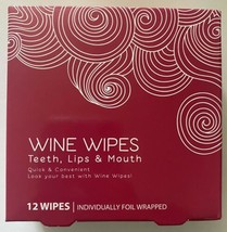 Lot of (4) boxes of 12ct Wine Wipes Teeth Lips & Mouth individually foil wrapped image 2