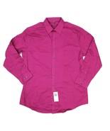 Geoffrey Beene Mens 17 32/33 Rosewood Pink Button Up Slim Fit Dress Shir... - $19.79