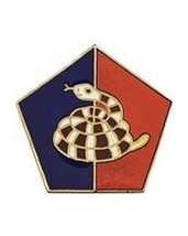 United States Army 51th Infantry Division Hat Lapel Pin - $4.94
