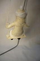 Vintage Inspired Spun Cotton, Santa on Swing Ornament image 2