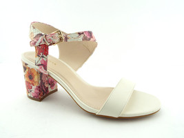 New COLE HAAN Size 6.5 ELVA Floral White Ankle Strap Sandals Shoes 6 1/2 - $84.00