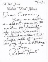 "ASTRONAUT ROBERT ""HOOT"" GIBSON HAND WRITTEN AND SIGNED BIRTHDAY LETTER L... - $14.00"
