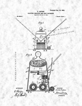 Electric Sweeper and Dust-gatherer Patent Print - Gunmetal - $7.95+