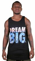 Yea Nice Men's Black Dream Big Graphic Logo Summer Tank Top Muscle Shirt NWT