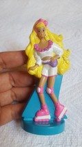 "McDonald's Mattel Barbie 1992 Figure Roller Skating PVC Blonde White Outfit 4"" - $16.77"