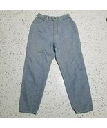 Women's Vintage Lee Denim Jeans ~ Sz 12P ~ Blue & White ~ Pleated ~ High... - $18.80