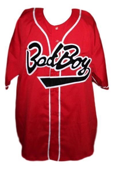 Biggie smalls  10 bad boy baseball jersey button down red   1