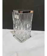 HOTEL BALFOUR Silver Chrome Glass Etched Toothbrush Holder NEW - $32.99