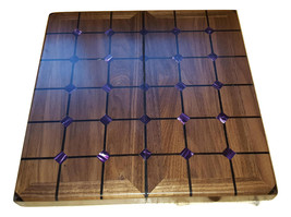 Magnetic tak set made from black walnut,ebony,wenge,and amethyst acrylic - $239.95