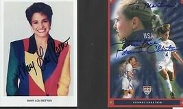 Four Sports Autographs - Retton, Chastain, Calcavecchia, Spitz - $18.80
