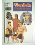 Simplicity 9798 Cheerleaders Team Spirit BB 8-12 Costume Pattern Girls N... - $4.25