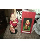 RR-20#19    Windsor Collection Santa Collectible holding a bell & a sack... - $22.76