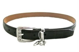 Brighton Brown Leather Belt with Silver Tone Buckle & Golf Charms  size ... - $18.00