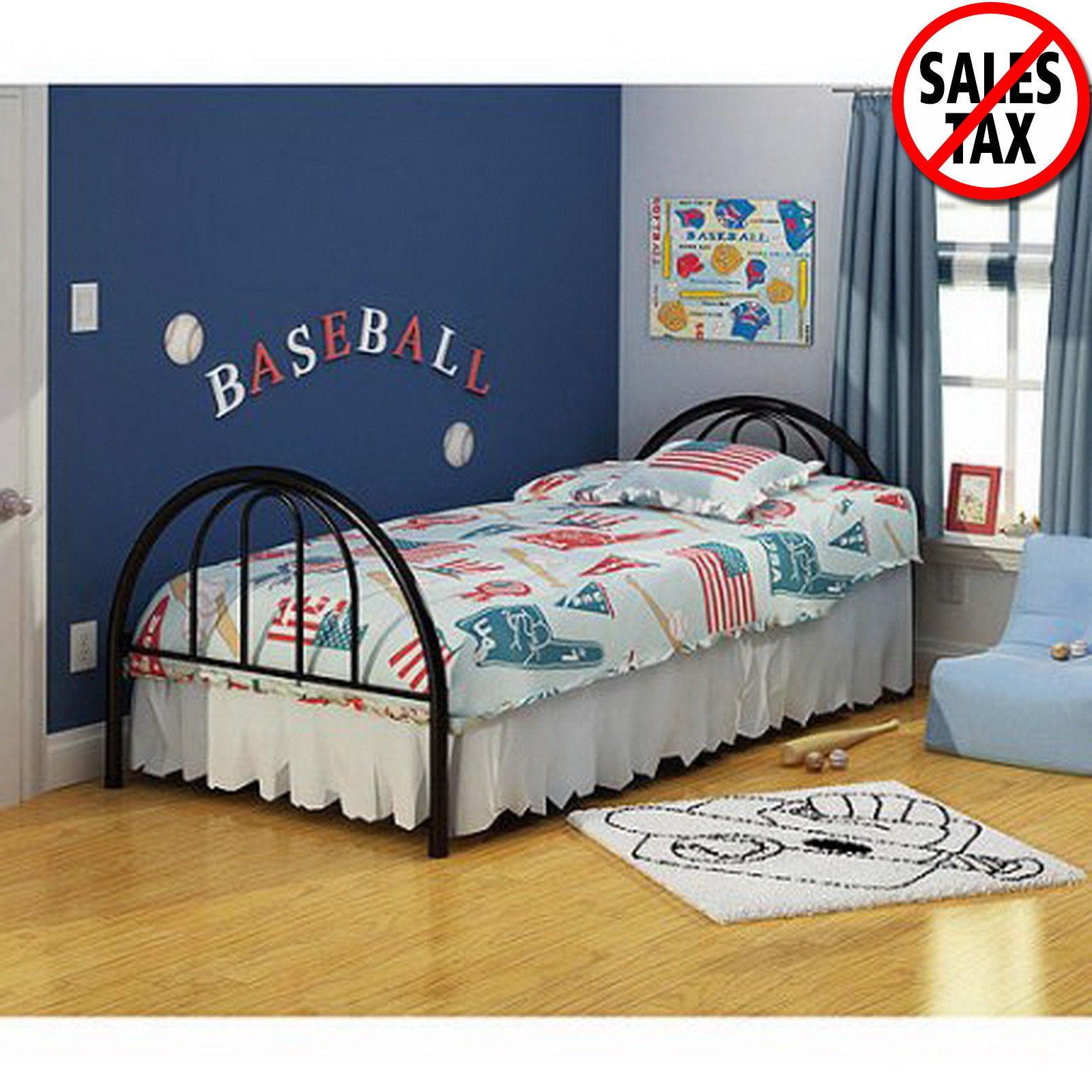 Twin Bed Metal Platform Bed Frame  Bedroom Furniture Kids Teens Dorm Home NEW for sale  USA