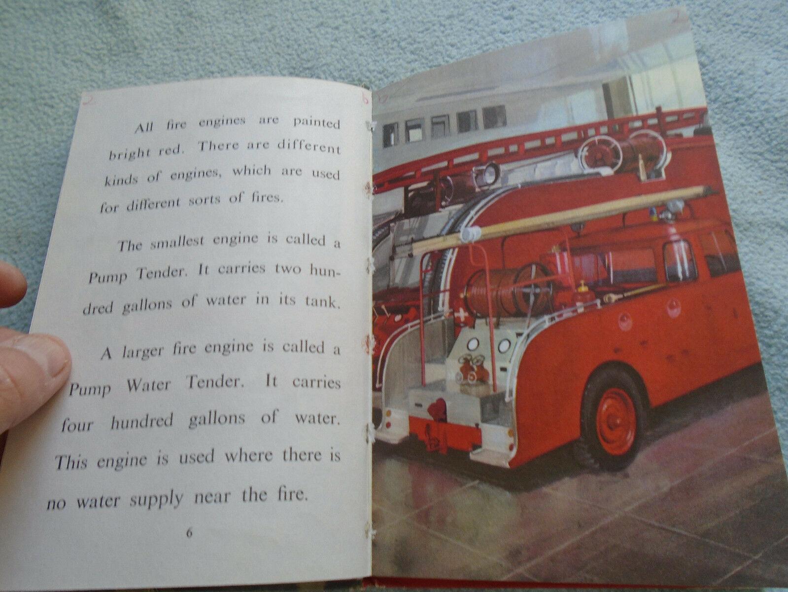Vintage 1962  Lady Bird Book People At Work Firemen Series 606B
