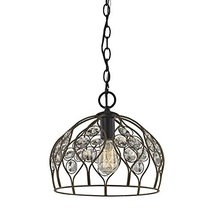 Elk Lighting 81106/1 Close-to-Ceiling-Light-fixtures, 12 x 11 x 11, Bronze - $109.24
