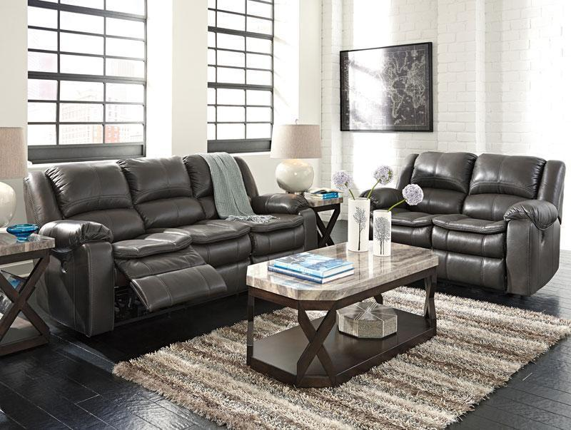 haven gray faux leather recliner sofa couch loveseat set