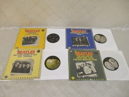 "Beatles Ticket To Ride Day Tripper RAIN 7"" Vinyl Record EMI Apple Lot of 4 - £124.28 GBP"
