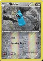 2015 Pokemon Beldrum Reverse Foil HP 60 47/98 - $0.99