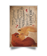 The Lion King To My Girlfriend I Love You Forever Always Satin Portrait ... - $19.00+