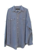 ABERCROMBIE & FITCH Mens Long Sleeve Dress Shirt Plaid & Checks White Bl... - $16.82