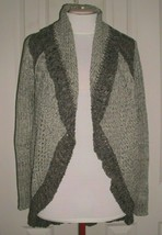 CABI WOMEN'S SWEATER OPEN FRONT MULTI-WEAVE CHUNKY KNIT CARDIGAN SIZE ME... - $39.99