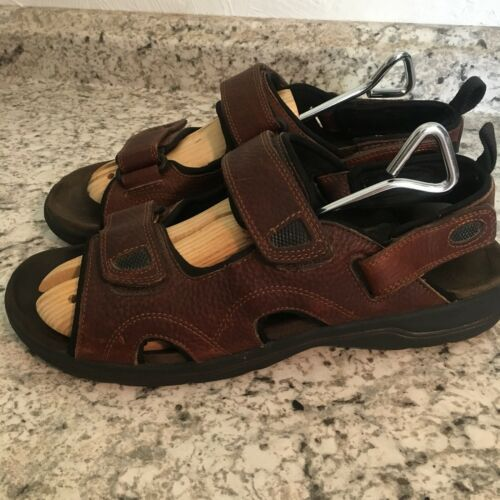 EARTH SPIRIT sun II MENS BROWN FISHERMEN SPORTS Leather Sandals 11