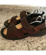 EARTH SPIRIT sun II MENS BROWN FISHERMEN SPORTS Leather Sandals 11 - $29.65