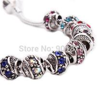 Charms 10pcs/lot 2015 European Rhinestone Big Hole Bracelets Necklace F2450 Bead - $25.99