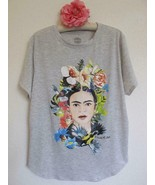 Frida Kahlo Floral Headpiece Birds Licensed T-Shirt 1X XXL Rayon Poly Kn... - $19.99