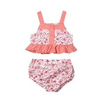 Toddler Baby Girls Outfit Clothes T shirt Tops + Pink Shorts Outfits 0 2... - $9.69