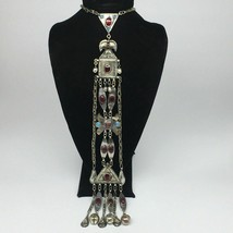 "144.6g, 20"" Turkmen Necklace Pendant Long Necktie Old Vintage Gold-Gilded,TN463 - $79.20"
