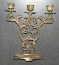 Judaica Shabbat Candlestick Candle Holder Bronze Vintage Israel Hen Holon 1960's image 6